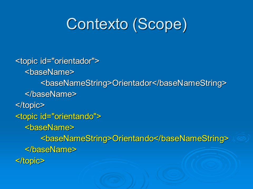 Contexto (Scope) <topic id= orientador > <baseName>