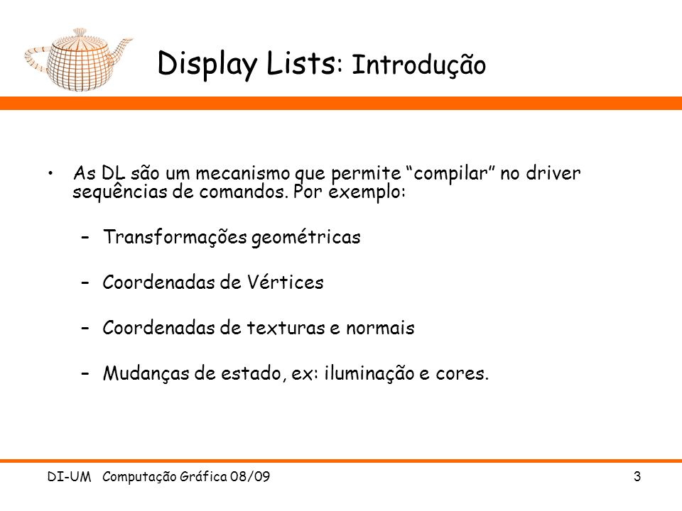 Display Lists: Introdução
