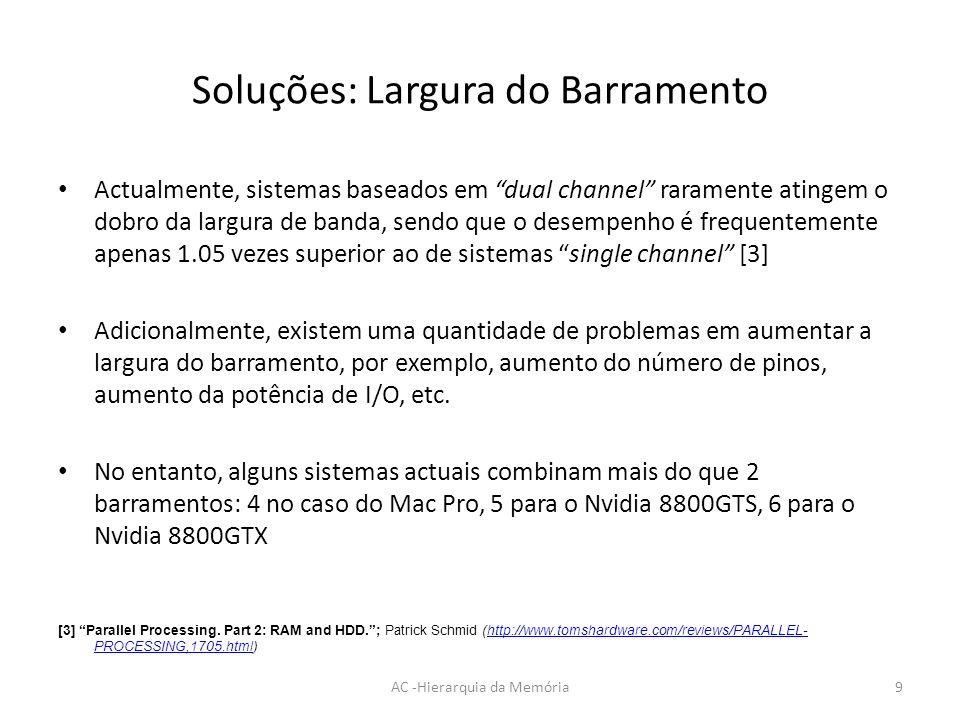 Soluções: Largura do Barramento