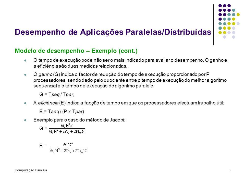 Desempenho de Aplicações Paralelas/Distribuídas