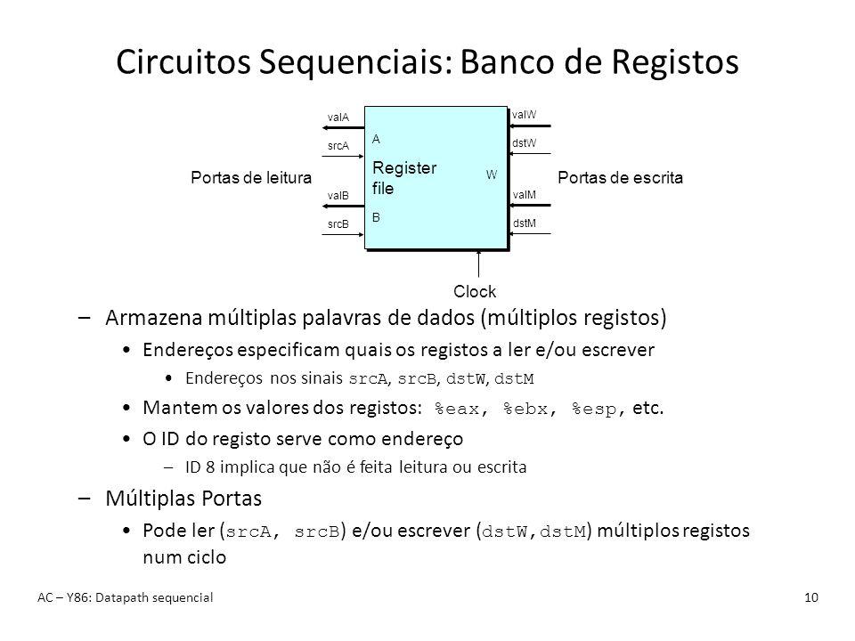 Circuitos Sequenciais: Banco de Registos