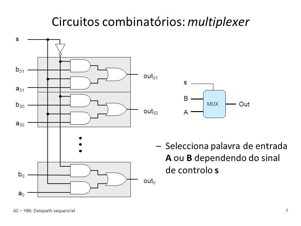Circuitos combinatórios: multiplexer