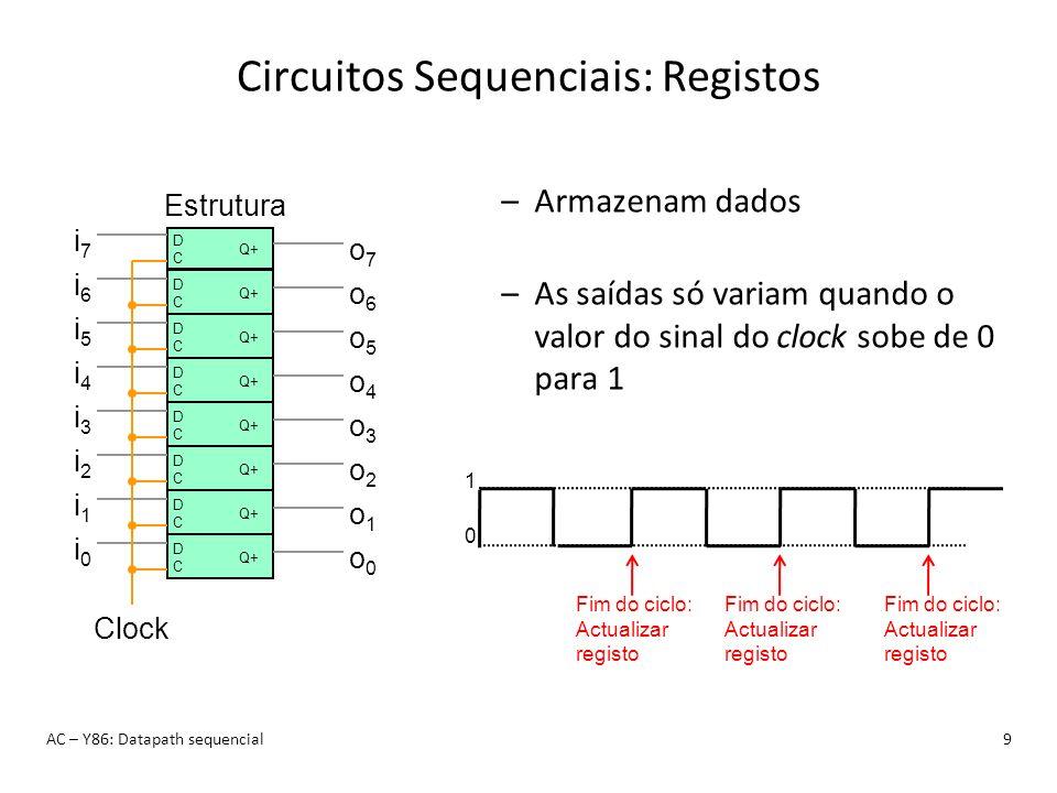 Circuitos Sequenciais: Registos