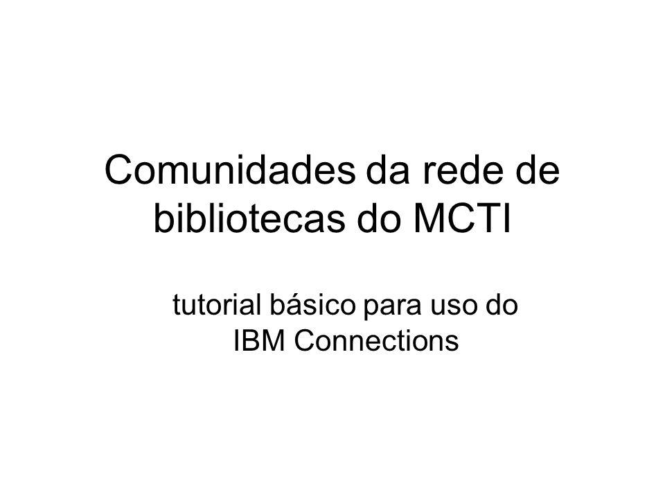 Comunidades da rede de bibliotecas do MCTI