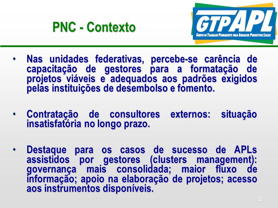 PNC - Contexto