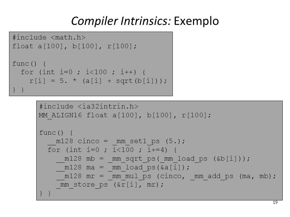 Compiler Intrinsics: Exemplo