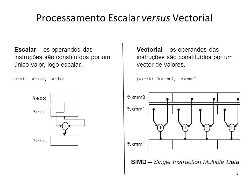 Processamento Escalar versus Vectorial
