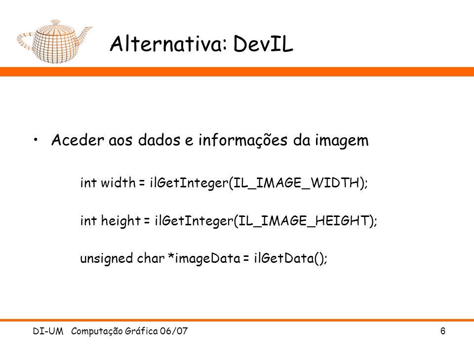 Alternativa: DevIL Aceder aos dados e informações da imagem