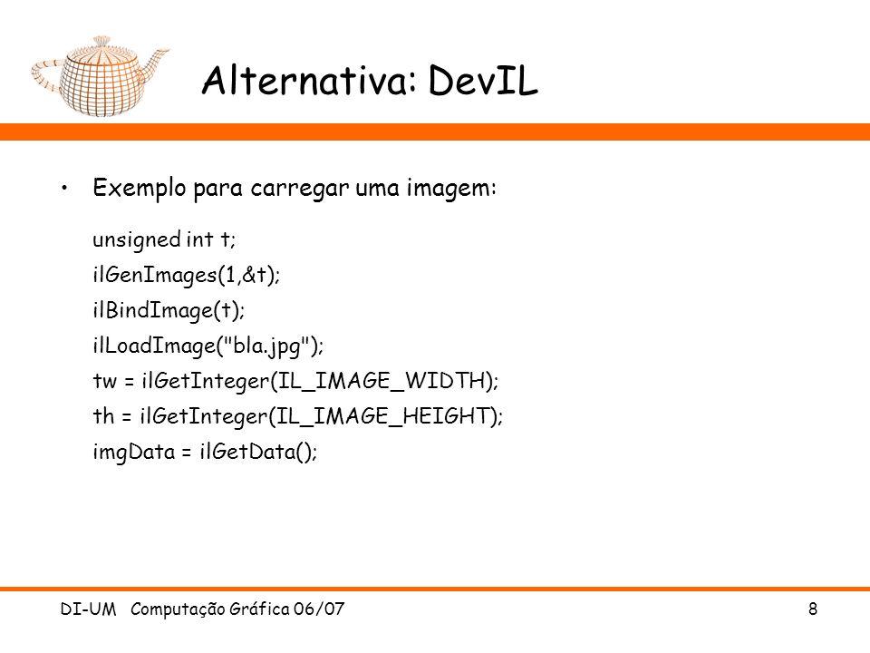 Alternativa: DevIL Exemplo para carregar uma imagem: