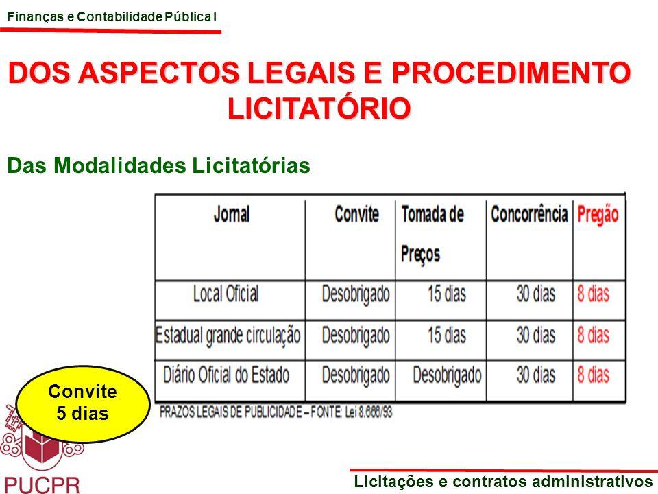 DOS ASPECTOS LEGAIS E PROCEDIMENTO