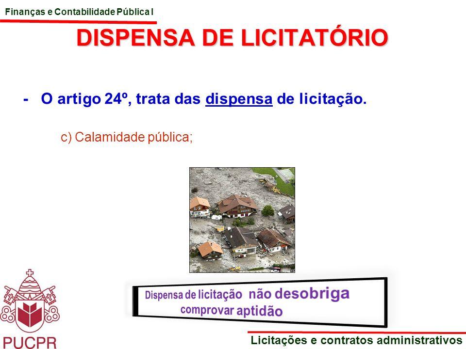 DISPENSA DE LICITATÓRIO