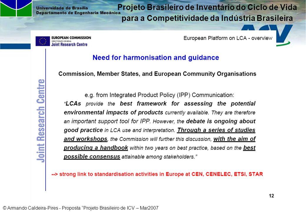 Projeto Brasileiro de Inventário do Ciclo de Vida para a Competitividade da Indústria Brasileira