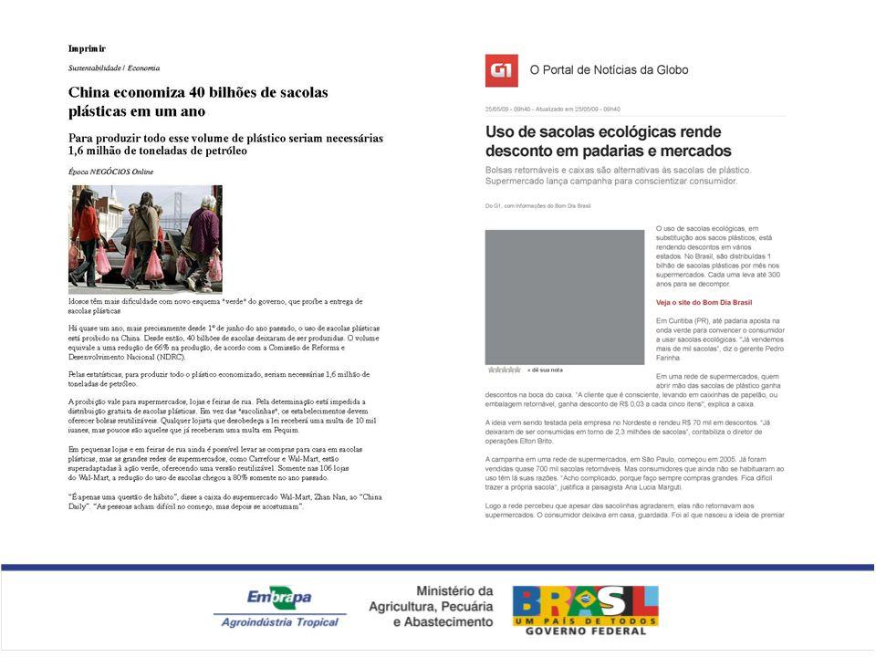 Comentar sobre uso de sacolas retornaveis em Fortaleza