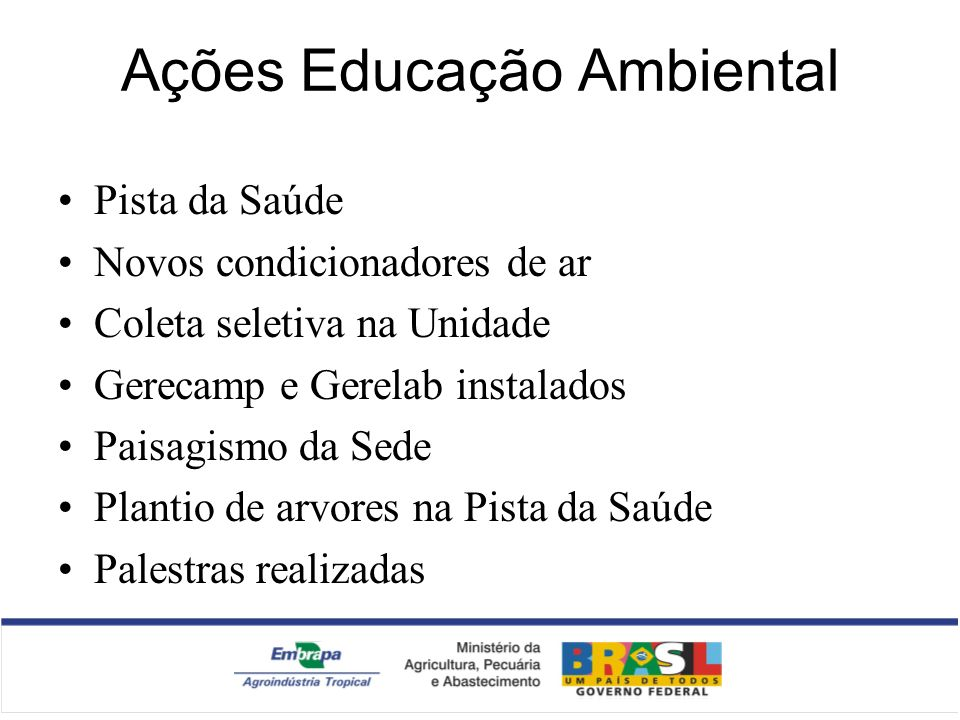 Ações Educação Ambiental