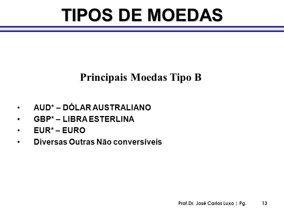 Principais Moedas Tipo B