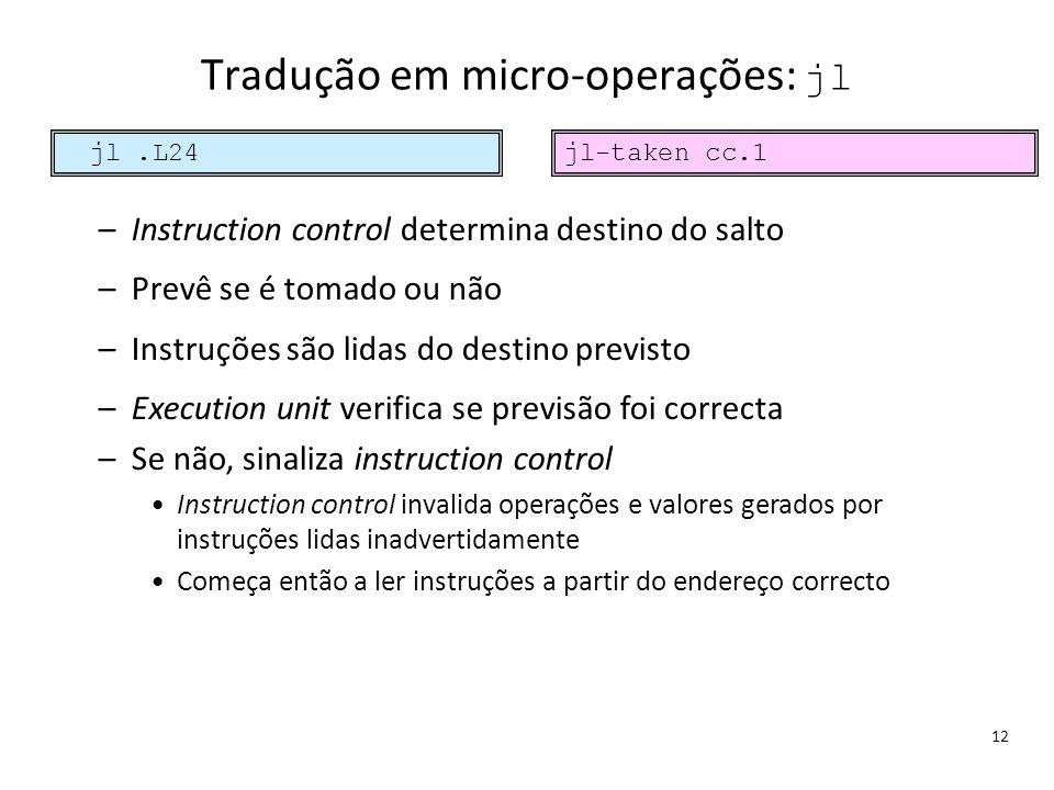Tradução em micro-operações: jl