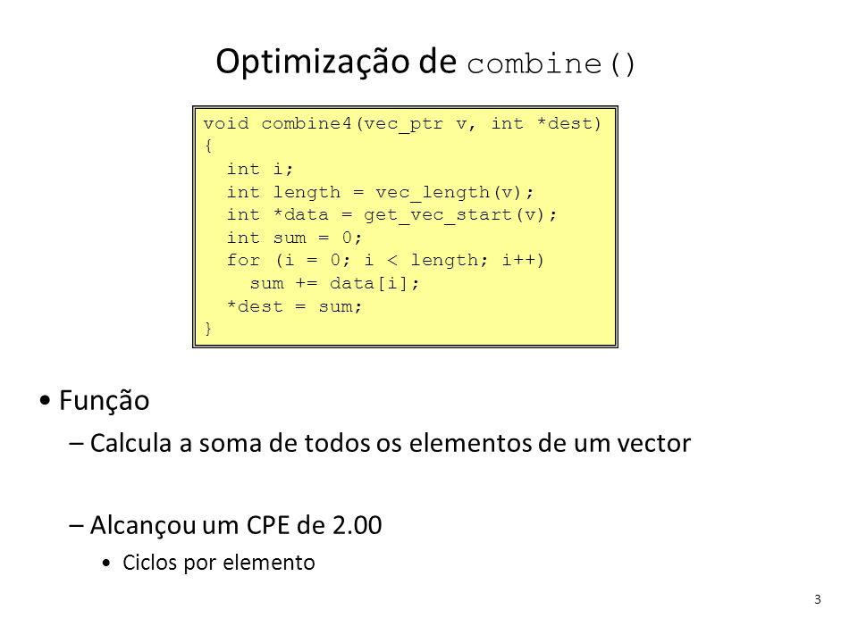 Optimização de combine()