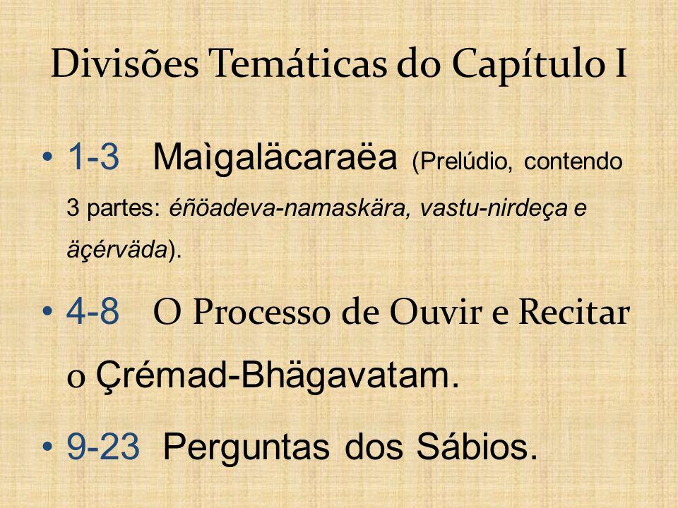 Divisões Temáticas do Capítulo I