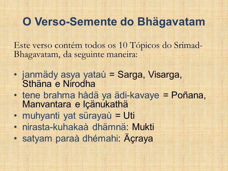 O Verso-Semente do Bhägavatam