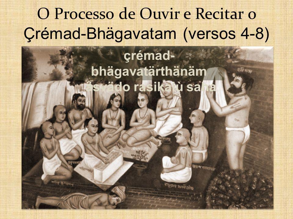 O Processo de Ouvir e Recitar o Çrémad-Bhägavatam (versos 4-8)