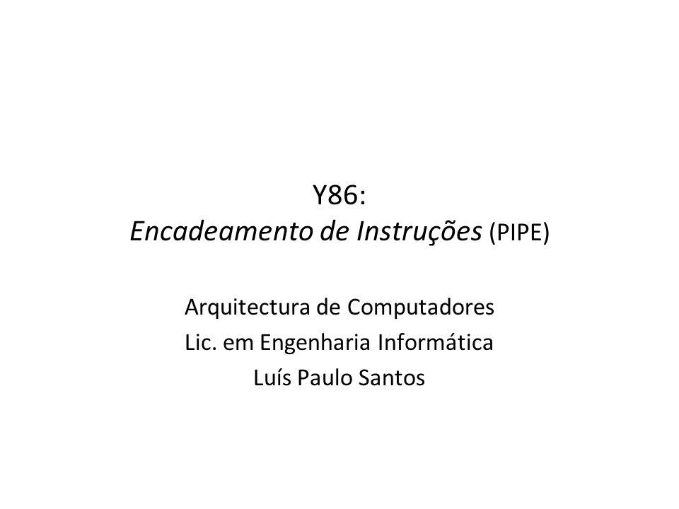 Y86: Encadeamento de Instruções (PIPE)