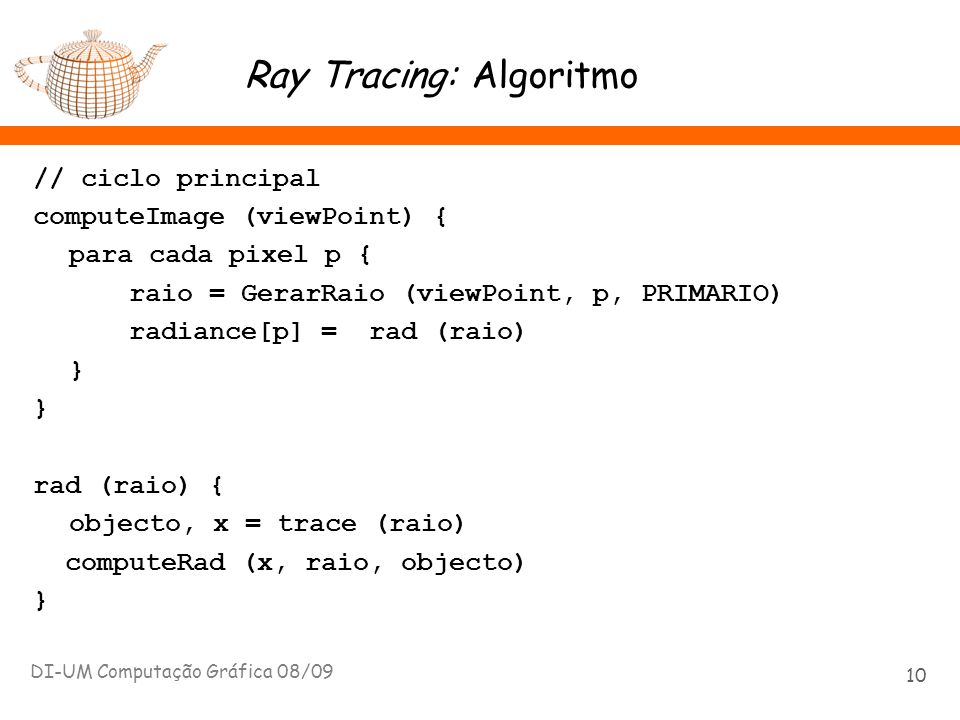 Ray Tracing: Algoritmo