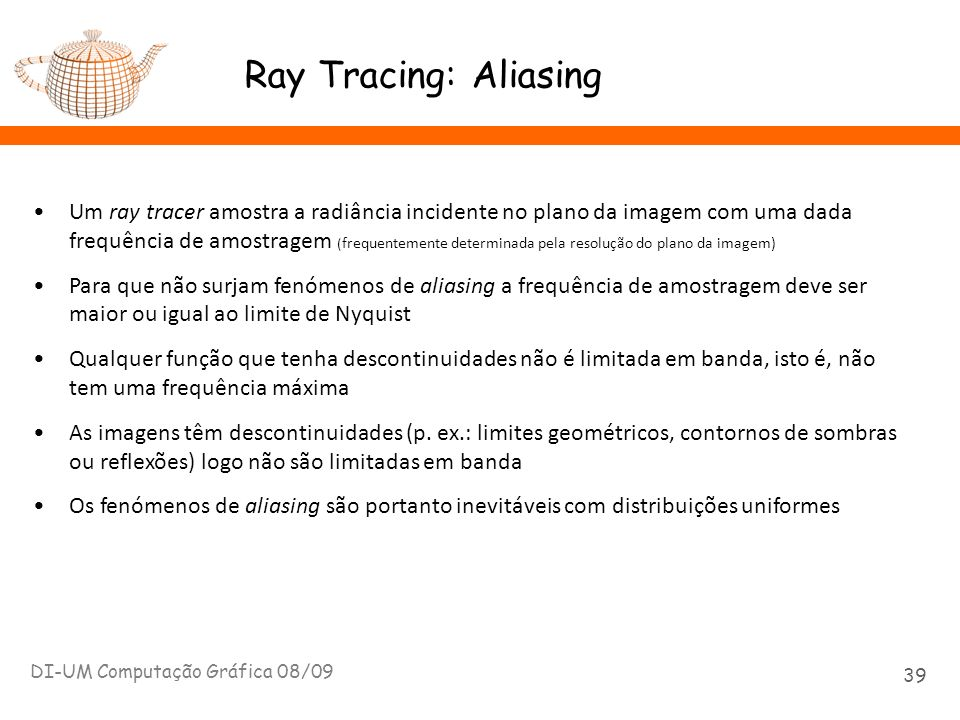 Ray Tracing: Aliasing
