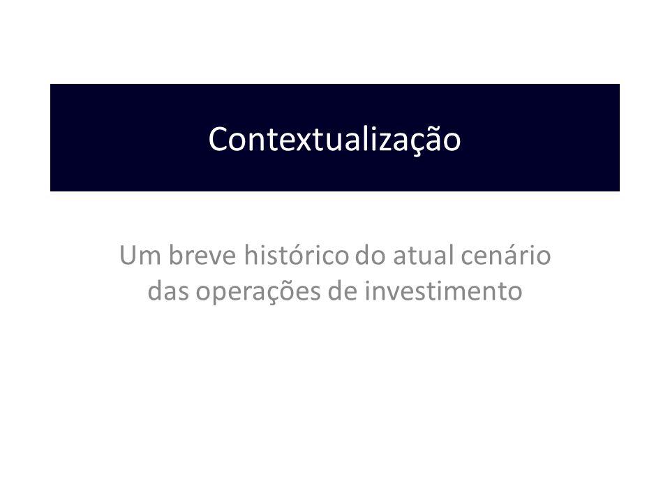 Um breve histórico do atual cenário das operações de investimento