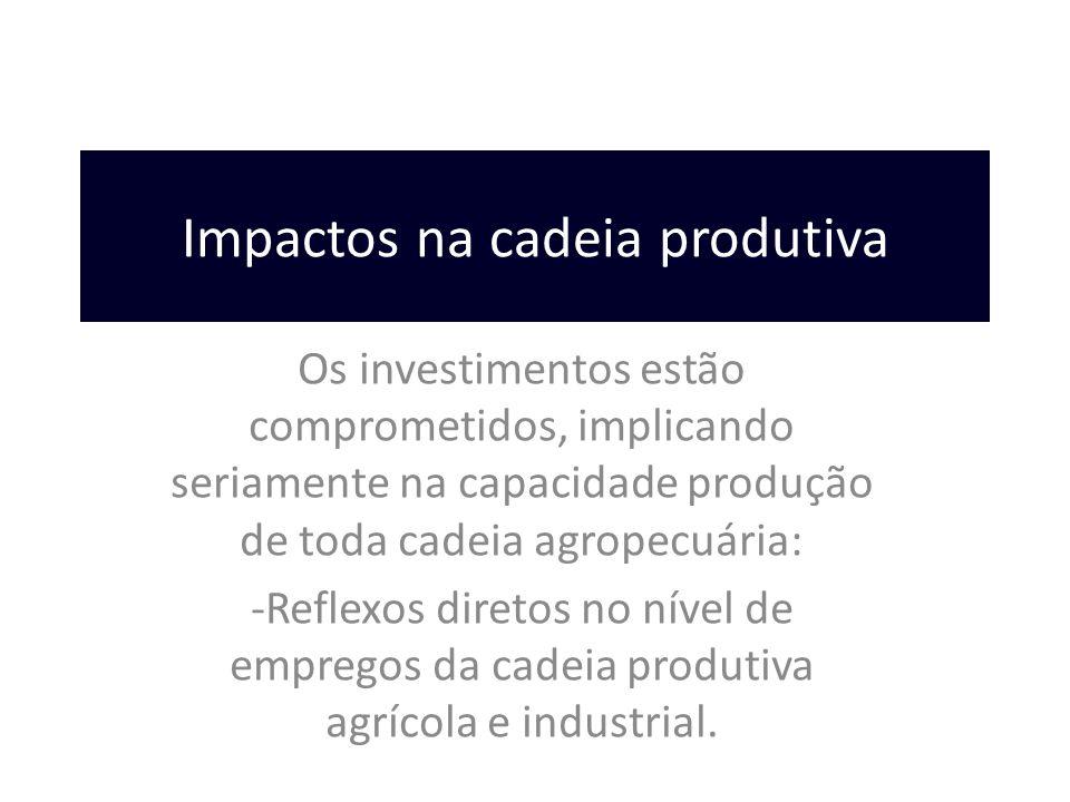 Impactos na cadeia produtiva