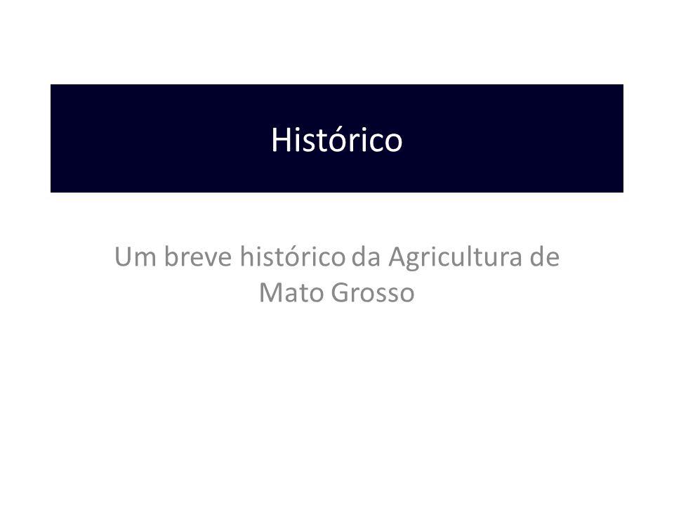 Um breve histórico da Agricultura de Mato Grosso