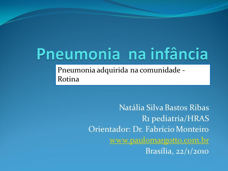 Natália Silva Bastos Ribas R1 pediatria/HRAS