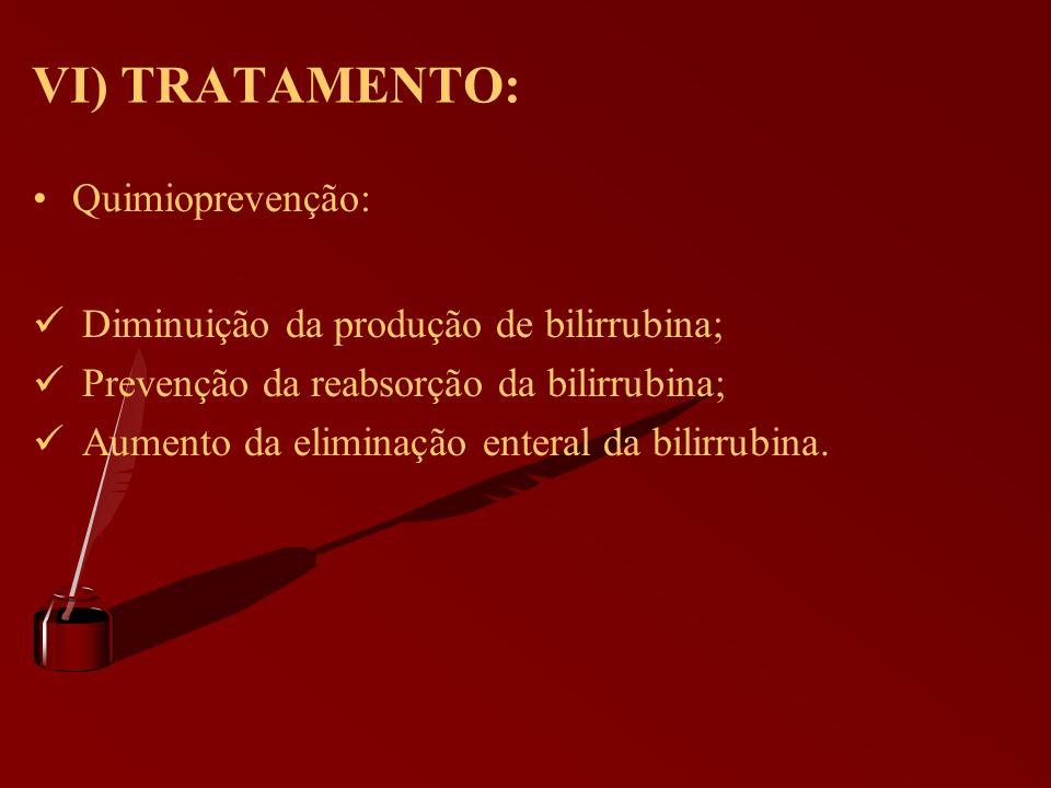 VI) TRATAMENTO: Quimioprevenção: