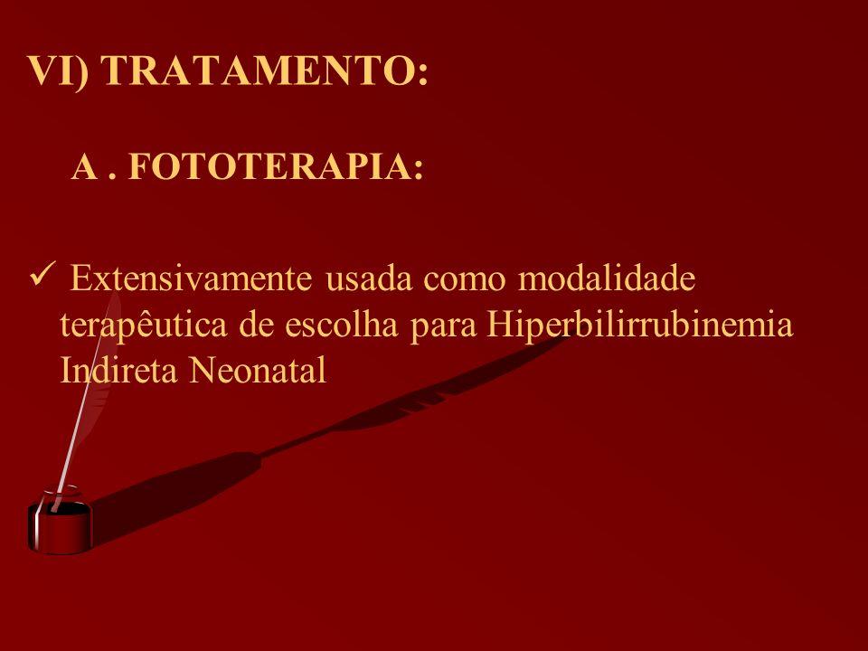 VI) TRATAMENTO: A . FOTOTERAPIA: