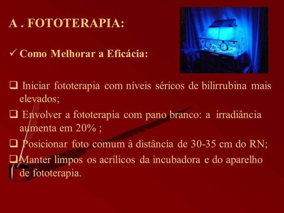 A . FOTOTERAPIA: Como Melhorar a Eficácia: