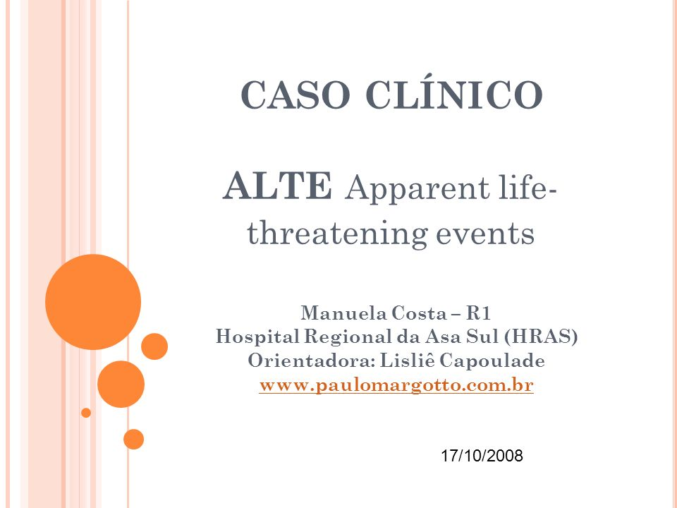 CASO CLÍNICO ALTE Apparent life-threatening events