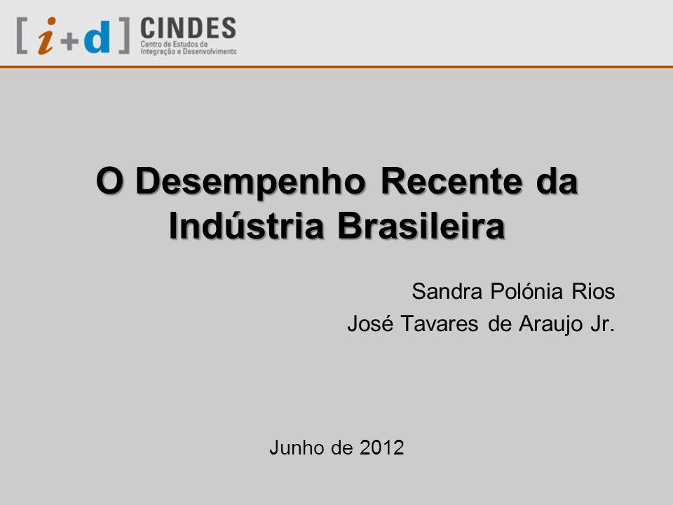 O Desempenho Recente da Indústria Brasileira