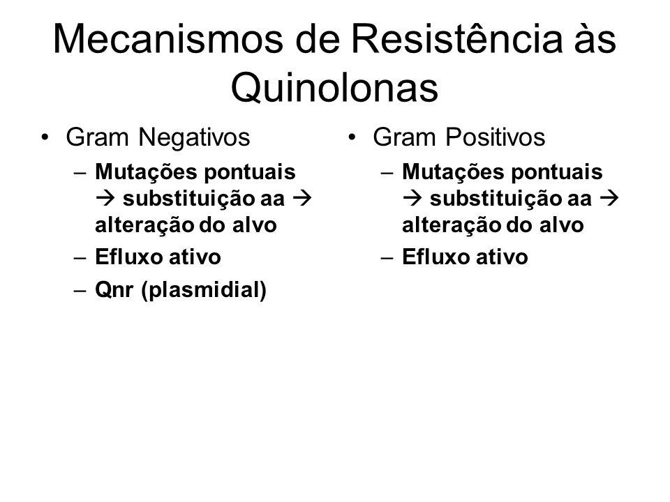 Mecanismos de Resistência às Quinolonas