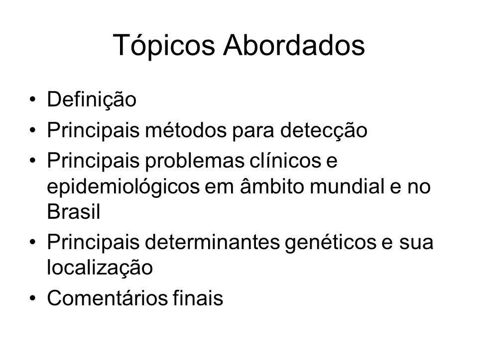 Tópicos Abordados Definição Principais métodos para detecção