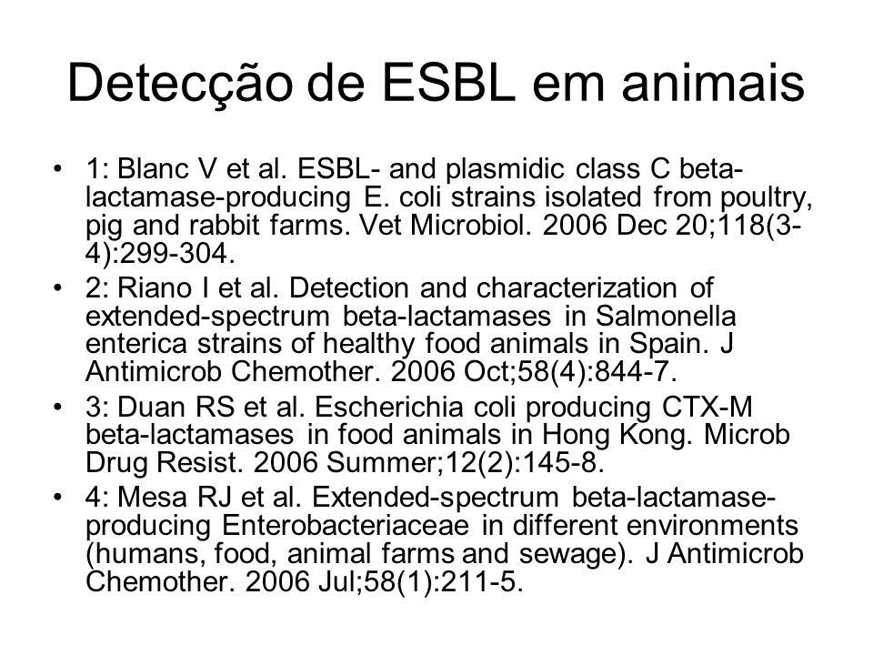Detecção de ESBL em animais