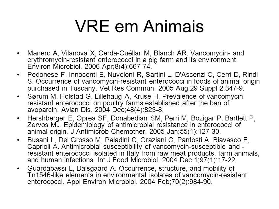 VRE em Animais