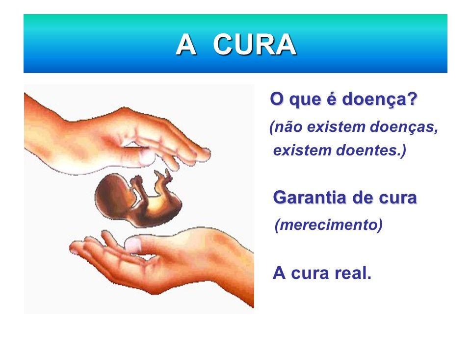 A CURA O que é doença (não existem doenças, (merecimento)