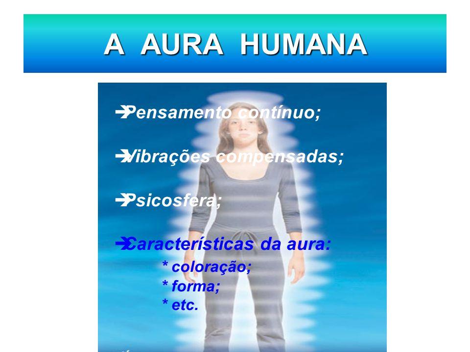 A AURA HUMANA Pensamento contínuo; Vibrações compensadas; Psicosfera;