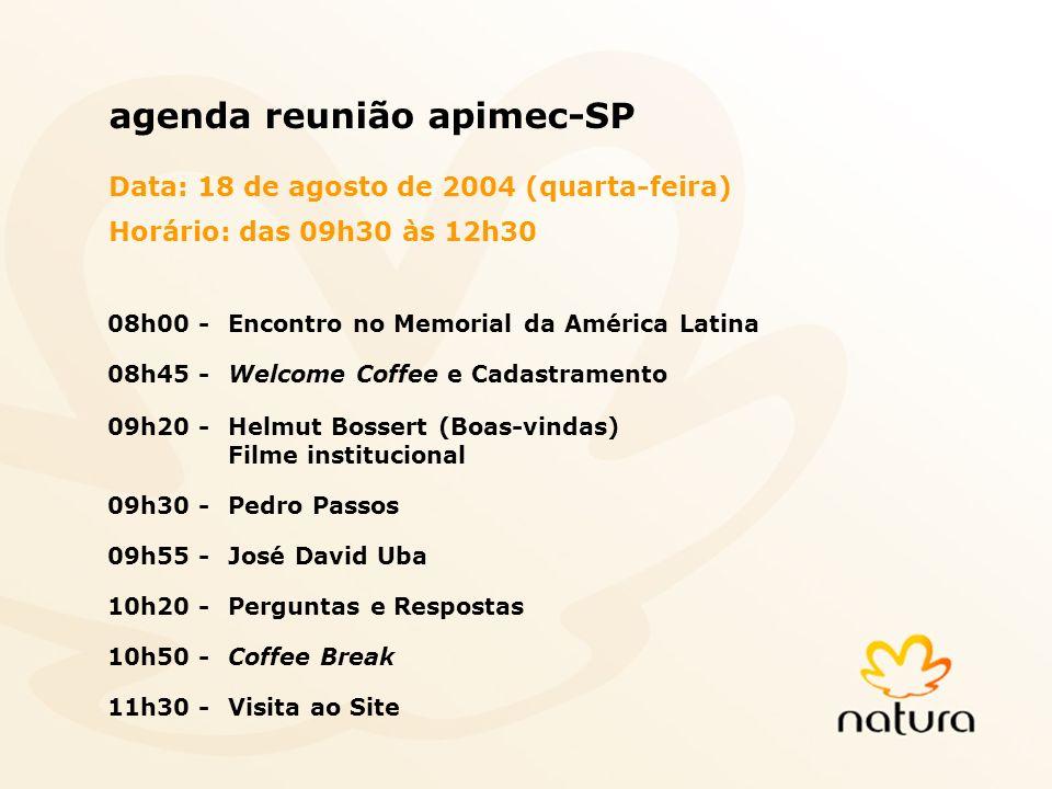 agenda reunião apimec-SP