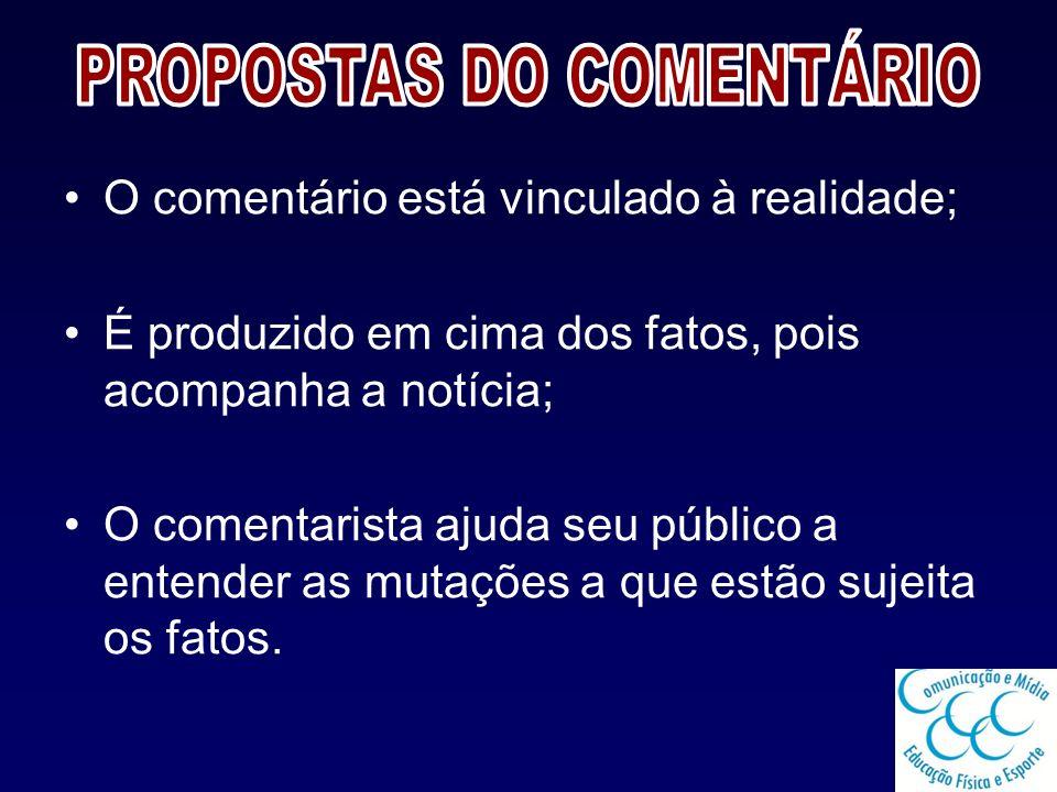 PROPOSTAS DO COMENTÁRIO
