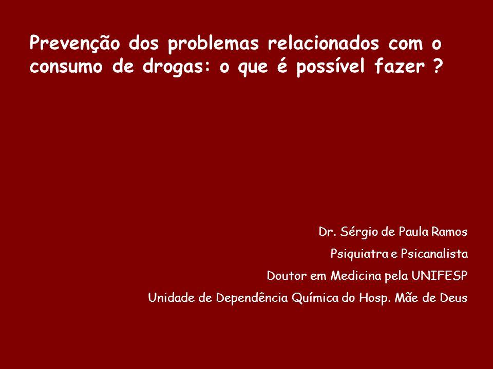 Prevenção dos problemas relacionados com o consumo de drogas: o que é possível fazer