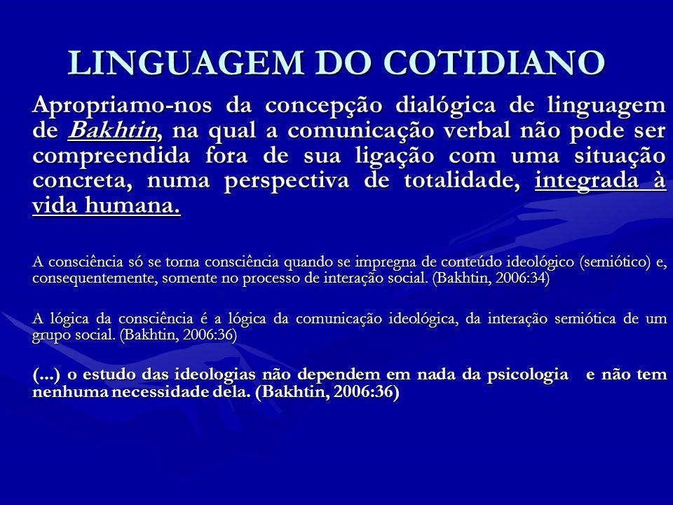 LINGUAGEM DO COTIDIANO