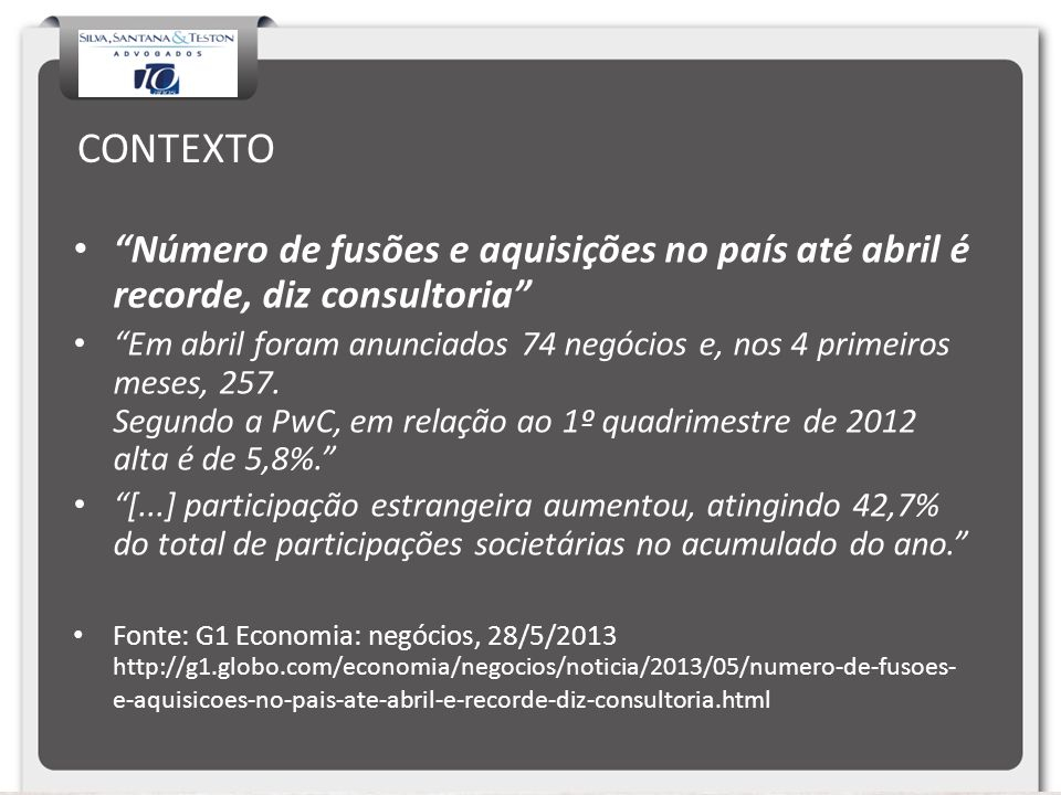 CONTEXTO Número de fusões e aquisições no país até abril é recorde, diz consultoria