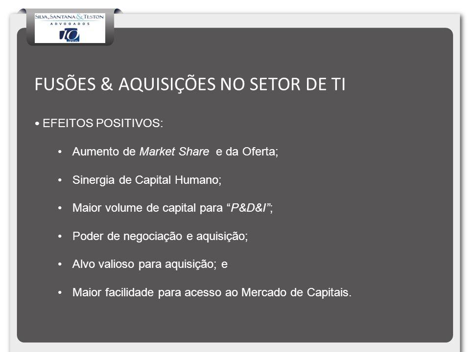 FUSÕES & AQUISIÇÕES NO SETOR DE TI