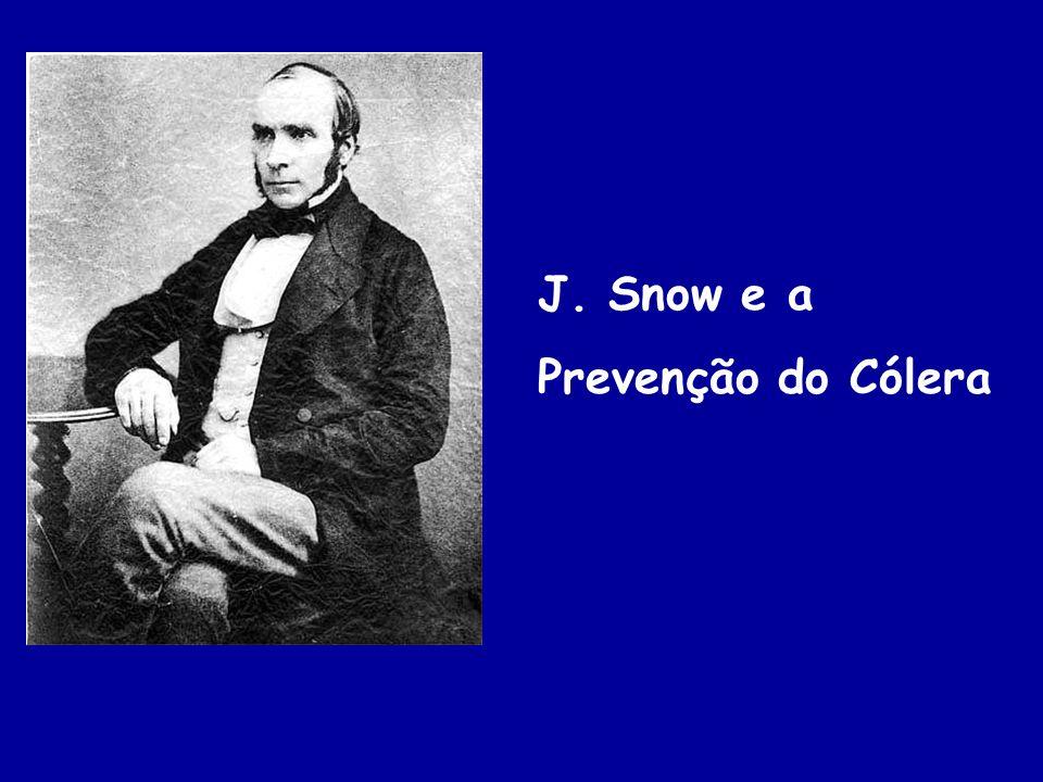 J. Snow e a Prevenção do Cólera