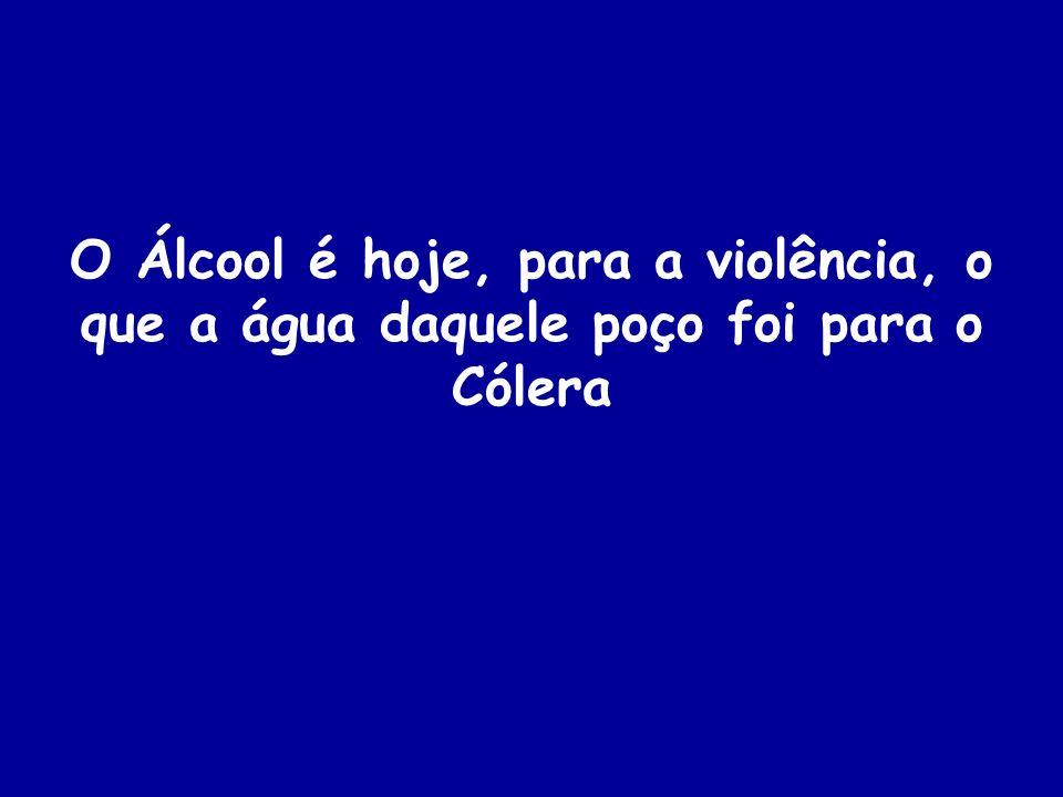 O Álcool é hoje, para a violência, o que a água daquele poço foi para o Cólera